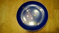 "Alaska Decorative 7.5"" State Plate Blue and Gold"