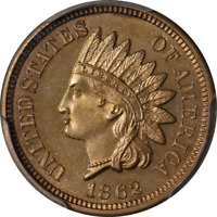 1862 Indian Cent Proof PCGS PR65 Great Eye Appeal Nice Luster Strong Strike