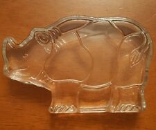 Dansk Crystal Zoo Collection Rhino Paperweight 04001 Naiad Einsel Designer