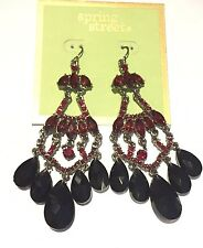 Spring Street Red Chandelier Earrings MSRP $32 Sold Out
