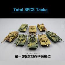 8PCS 1/72 TANK T72 T55  LEOPARD2A5  JSU-152 T98  M42 M1A2 Tiger  Battlefield4