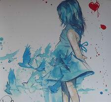Lora Zombie SIGNED Print 'Blue Girl' (+ banksy faile dolk eelus dran photos)