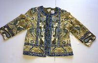 Chico' Artisan Womens Jacket-One of a Kind Size 1, 3/4 Sleeve