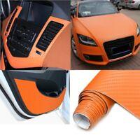 2Mx50CM DIY Gloss 3D Carbon Fiber Vinyl Wrap Roll Film Sticker 8 Colors for Car