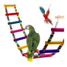 Bird Swing Wooden Bridge Ladder Climb Cockatiel Budgie Parrot Pet Toys Novel HOT