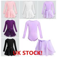 Girls Ballet Dance Dress Leotard with Tutu Skirt Kids Ballerina Dancewear Outfit