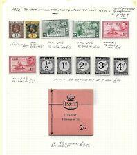 Fiji Stamp Collection George V -  early QEII umm inc sg 249a & 252b.SG Cat: £90+