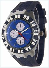 Mens Designer Silicone Jelly Rubber Geneva Navy Blue Large Face Hip Hop Watch