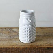 """Bohemian White 8"""" Flower Vase"""