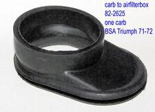 Triumph BSA OIF 650ccm 83-2625 air filter hose 71-72 Ansauggummi zu Luftfilter