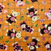 1/2m Teddy Bear Watermelon Bedding Cotton Apparel Quilting Fabric