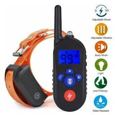 1000ft Electric Dog Shock Collor Rechargeable Waterproof Remote Control Training