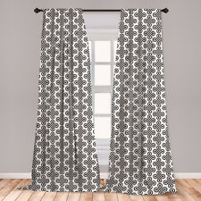 Irish Microfiber Curtains 2 Panel Set Living Room Bedroom in 3 Sizes