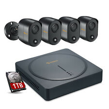 8-Channel 4-Camera H.265+ 5MP Wired DVR Security Camera System with 1TB HDD