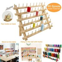 New brothread Wooden Thread Rack/Thread Holder Organizer 60Spools for Embroidery