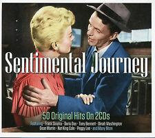SENTIMENTAL JOURNEY - 2 CD BOX SET - 50 ORIGINAL HITS, DORIS DAY & MORE