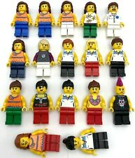 Lego 17 Female Girl Minifigures Ladies Town City Tennis Doctor Rocker Figs More