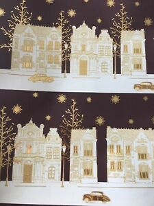 Regency Style Wrapping Gift Wrap Paper Gold White Mothers Day Birthday 4M roll
