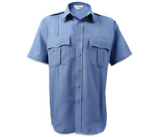 NWT - LION APPAREL Men's STATIONWEAR Blue BRAVO S/S UNIFORM SHIRT  -  MT 15 1/2