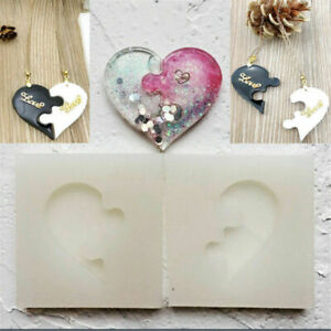 Puzzle Heart Silicone Pendant Mold Jewelry Resin Necklace Mould Casting Craft