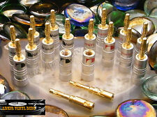 ♫ 8 PAIRES FICHES BANANES NAKAMICHI GOLD ENCEINTES ♫