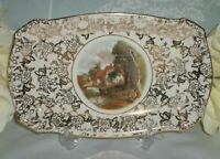 Vintage BCM Lord Nelson Ware Constable Valley Farm Chintz Tray / Plate