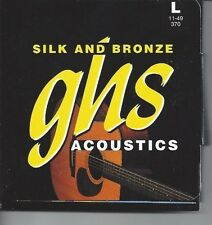 GHS SILK AND BRONZE ACOUSTIC GUITAR STRINGS SET 370  11-49  MADE IN THE USA
