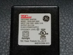 New GE Color Effects iTwinkle Power Supply - Model #  SA3A-050-3000