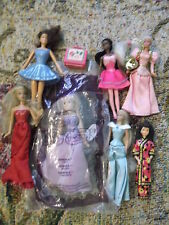 7 mini Barbie doll lot 6 McD figs inc Annika & Hallmark Chinese Barbie ornament