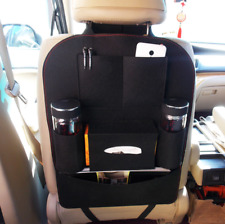 Car Seat Back Storage Bag Organizer Multi Pocket Felt Cotton Fabric Hanging Auto
