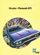 1971 Plymouth 28-page Original Car Sales Brochure - Road Runner Barracuda GTX
