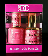 DND DC Soak Off Gel Polish Tulip Pink 014 LED/UV 6oz 18ml Gel Duo Set NEW