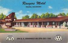 Seiling Oklahoma Rangers Motel Street View Linen Antique Postcard K21168