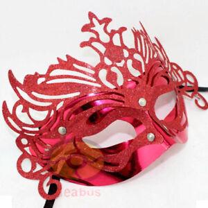 Masquerade Venetian Costume Eye Party Half Face Plastic Crown Princess Mask