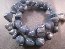 Blue Mother Of Pearl Shell Nuggets Beads 30pcs