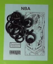 Stern NBA pinball rubber ring kit .
