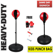Boxing Adjustable Standing Punch Ball Kids Punching Speedball Bag MMA with Pump