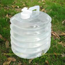 10L Outdoor Camping Handle Collapsible Water Bucket Bottle Container Tap Storage