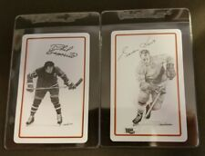 Gordie Howe Phil Esposito Boston Bruins 1977/78 lot (2)  playing Hockey Cards