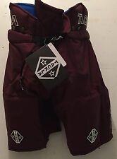Ice Hockey Sr Pant Maroon Tackla Model 8800, w/leg zips, Sr Sizes: S & Ml