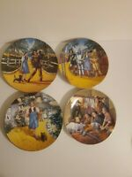 Wizard of Oz Collector's Plate By Rudy Laslo Lof of 4 Limited Edition