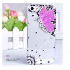 3D Clear Phone Case Cover Hard Bling Jewelled Crystal Diamonds Rhinestone Skin