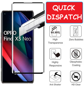 For Oppo Find X3 Neo 5G Tempered Glass Screen Protector Full Coverage