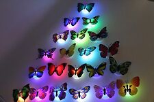 20x Butterfly LED Night Light Lamp 7 Color Changing Luminous Beautiful  decor