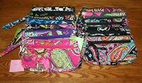 Vera Bradley WRISTLET wallet for iPhone 8 + plus X zip front pocket zip top