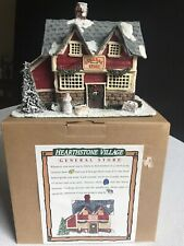 Silvestri Hearthstone Village Collection GENERAL STORE #63242 Lighted Signed