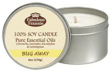 Bug Away 6oz All Natural Soy Candle With Pure Essential Oils Fabulous Frannie