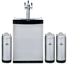 Mangrove Jacks 3 Tap Kegerator & 3 Kegs Fridge beer home brew triple font tower