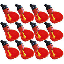 12Pcs Feed Automatic Bird Coop Poultry Chicken Fowl Drinker Water Drinking Cup