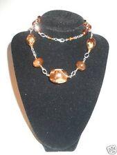Caramel Color Bead Necklace
